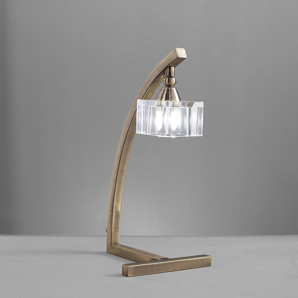 Mantra M2365ab Cuadrax Table 1 Light G9 Antique Brass