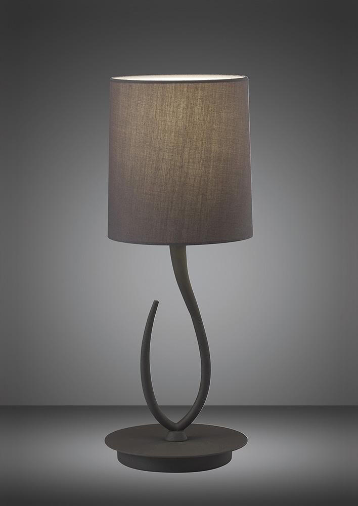 Mantra M3682 Lua Table Lamp 1 Light E27 Small Ash Grey