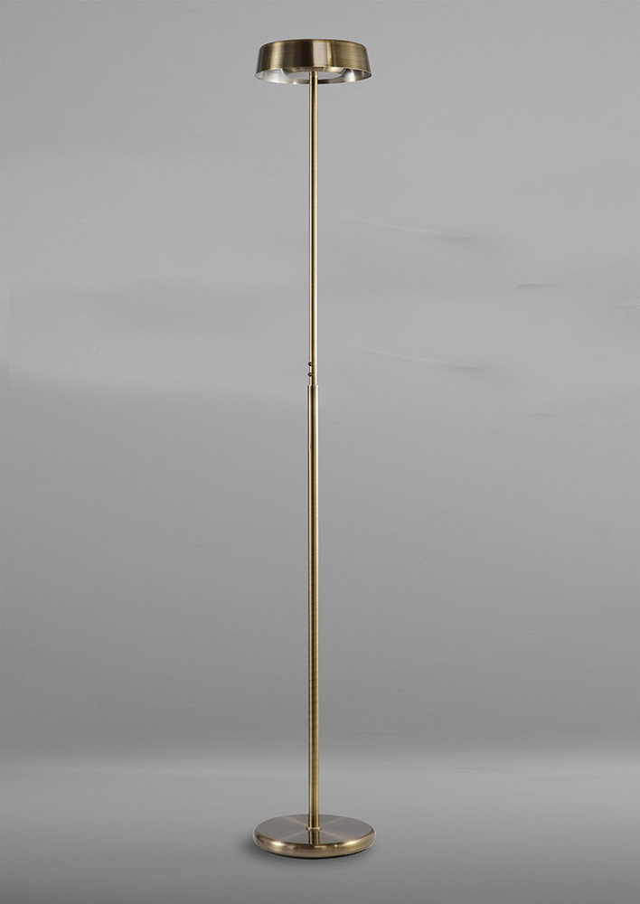 Mantra M4911 Noa Floor Lamp 2 Light 21w Down 9w Up Led
