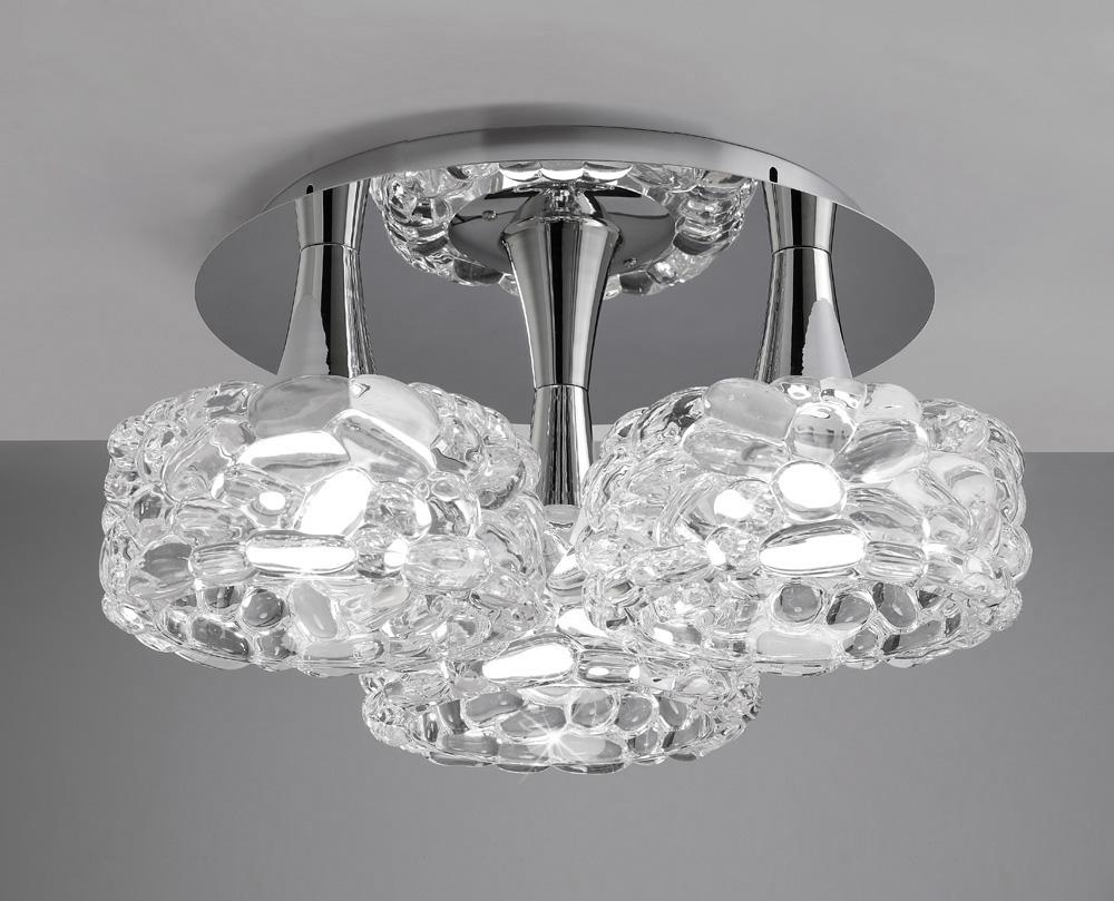 Mantra M3935 O2 Ceiling 3 Light E27 Large, Polished Chrome - Astral Lighting Ltd