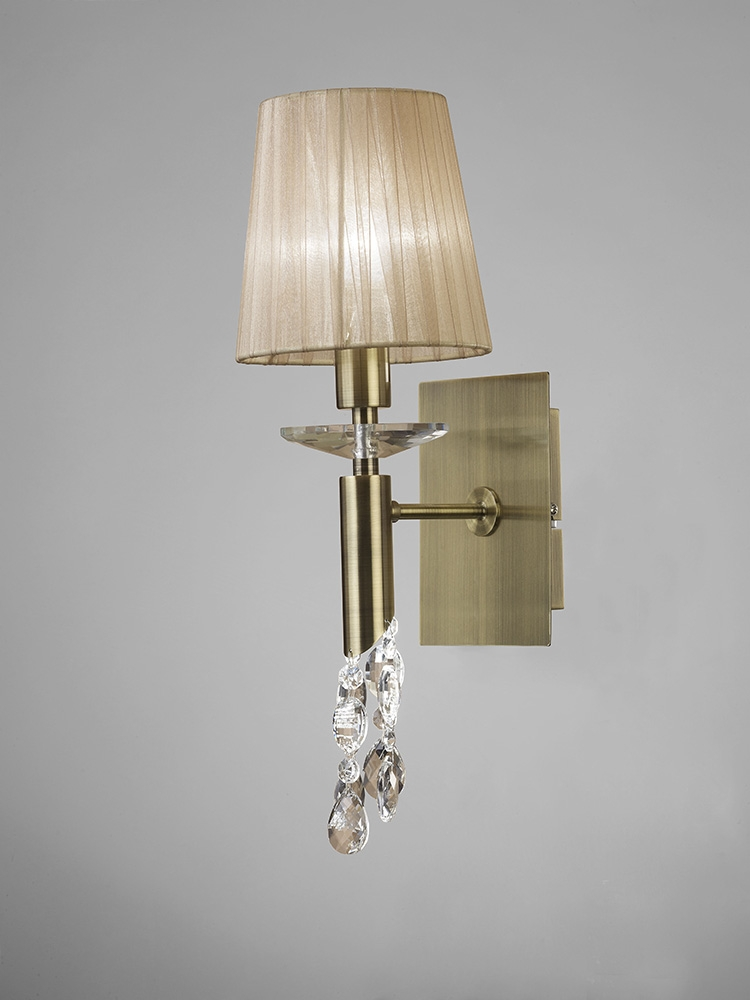 Mantra M3884/S Tiffany Wall Lamp Switched 1+1 Light E14