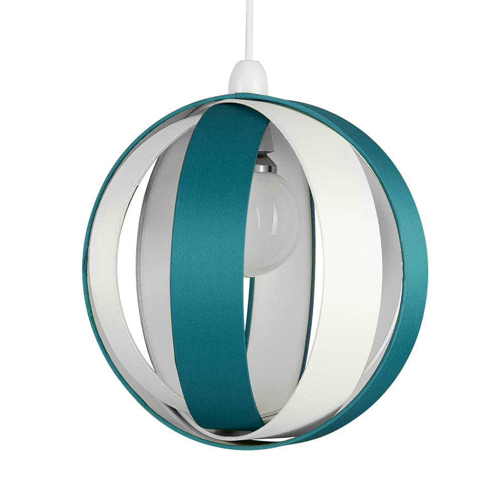 Ceiling Light Teal: J90 Non Electric Pendant Shade Teal/Cream