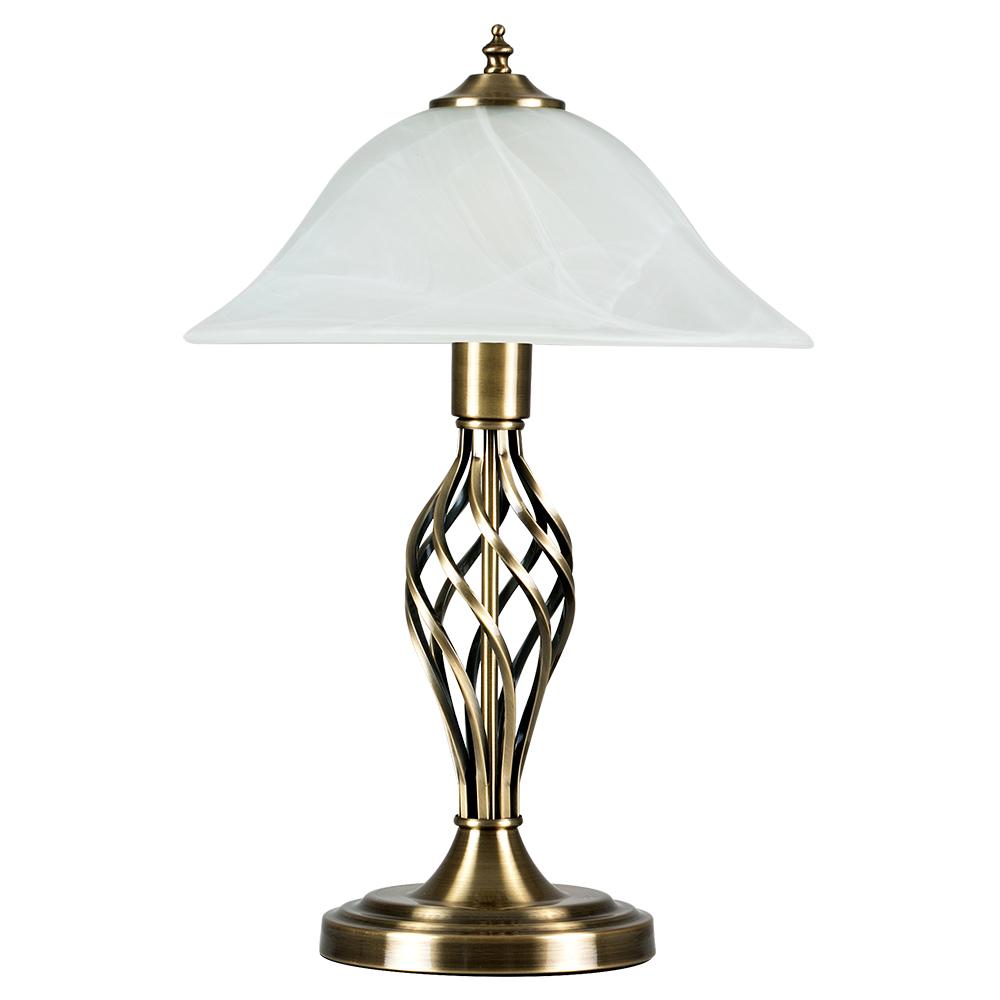 Memphis Twist Antique Brass Table Lamp Astral Lighting Ltd