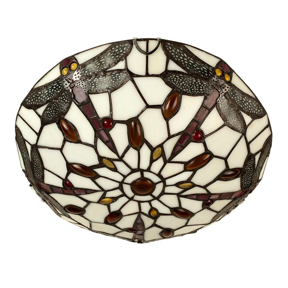 Dragonfly Tiffany Flush Uplighter Ceiling Light Astral Lighting Ltd