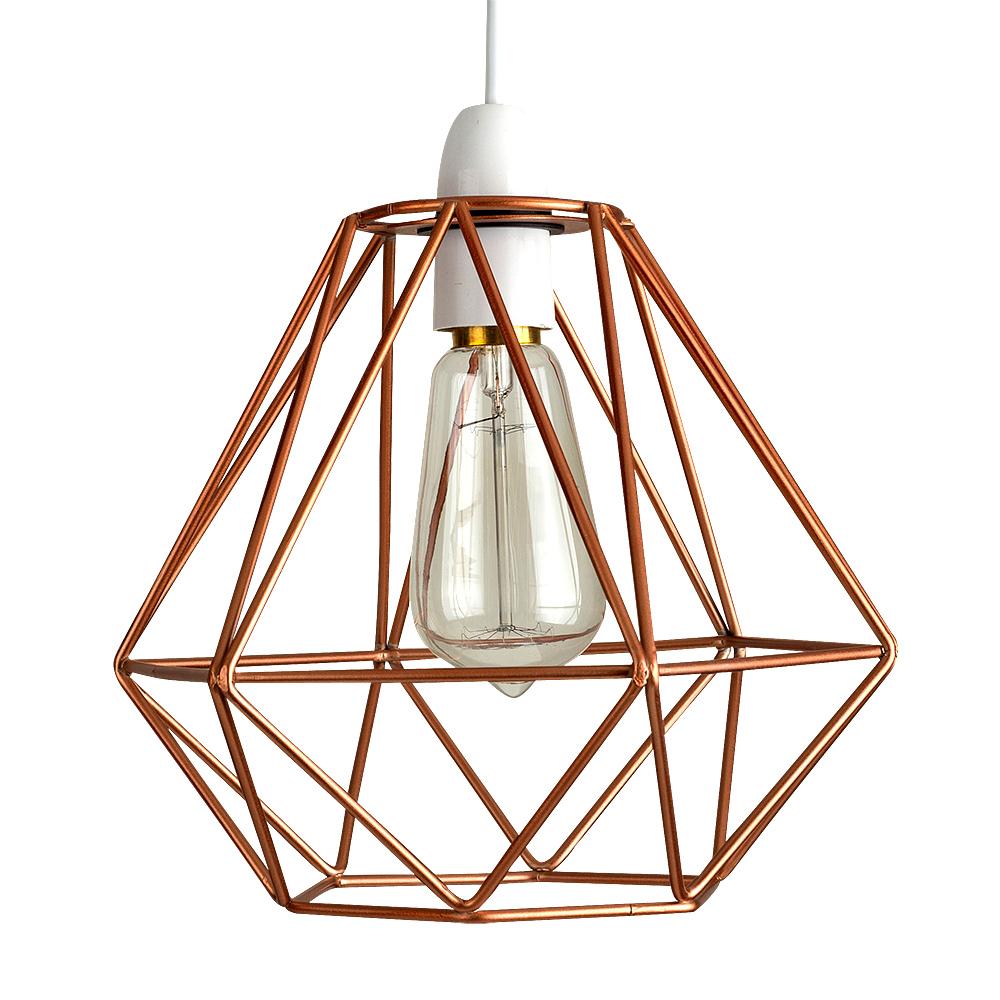 Diablo Copper Wire Frame Non Electric Pendant Shade ... on Non Lighting Sconces id=78057
