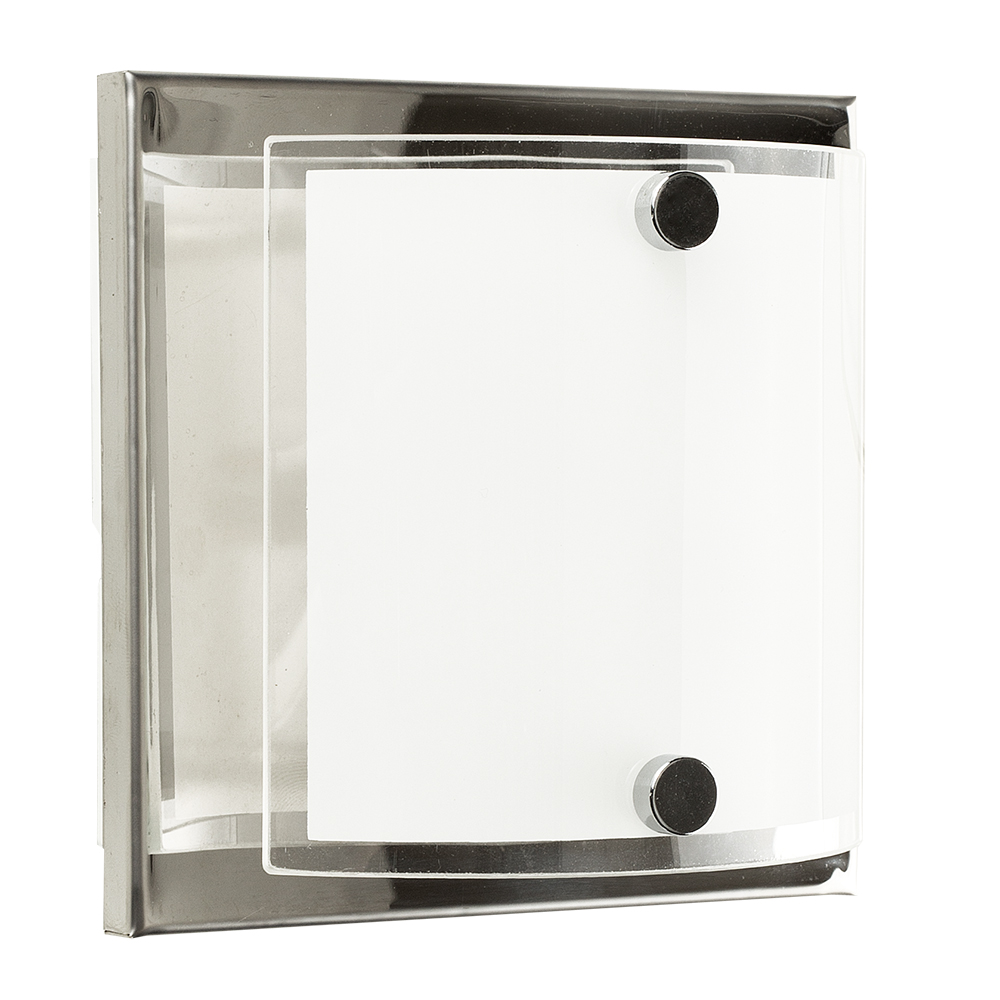 Vanity Light Curved Glass : Vista Single Chrome Wall Light with Curved Glass Shade - Astral Lighting Ltd
