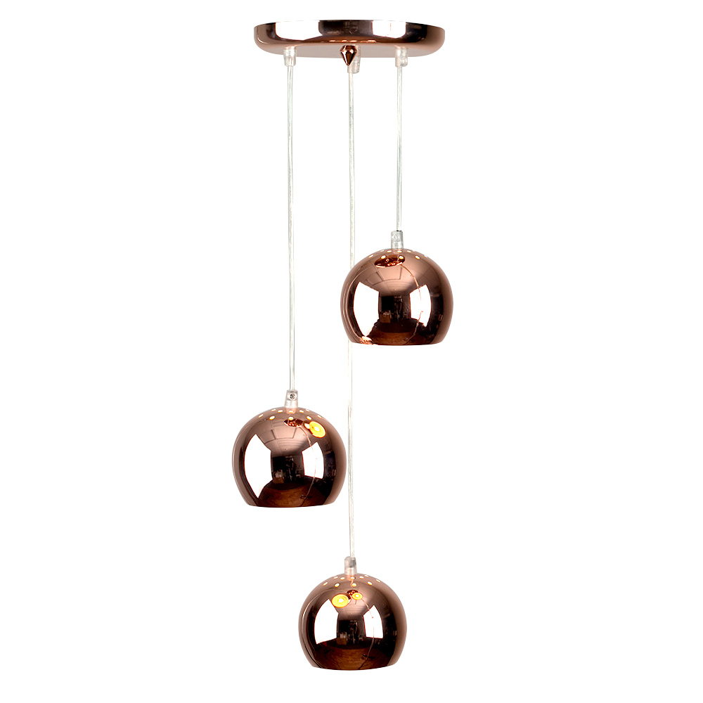Retro Eyeball 3 Light Droplet Copper Astral Lighting Ltd
