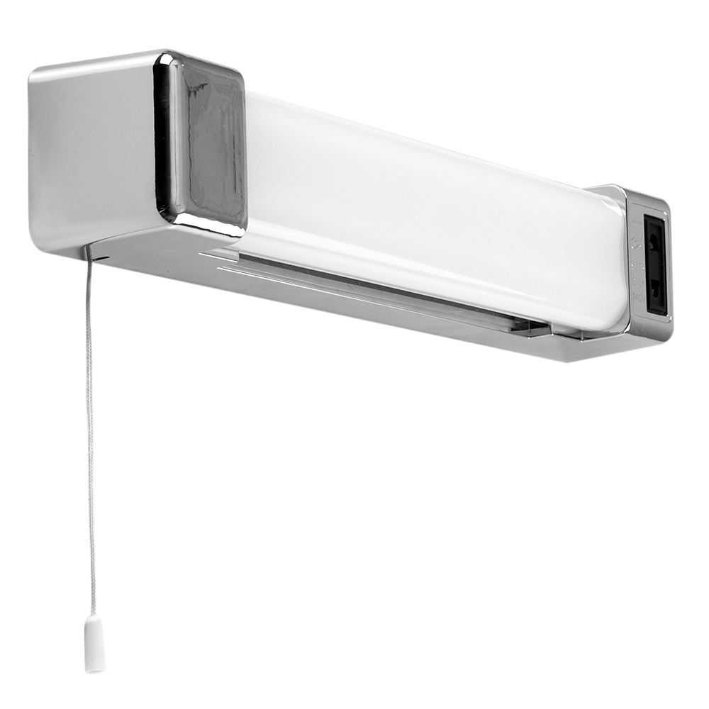 Vanity Light Bar Battery Operated : Horizon Chrome 5W LED Bathroom Shaver Light with Pull Switch - Astral Lighting Ltd